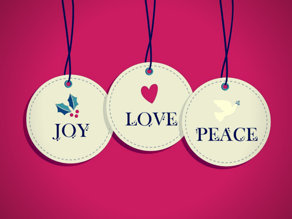 Joy Love Peace Ornaments picture
